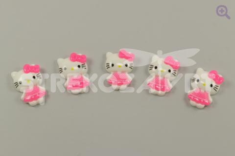 Кабошон Китти, 17*23мм, цвет: ярко-розовый