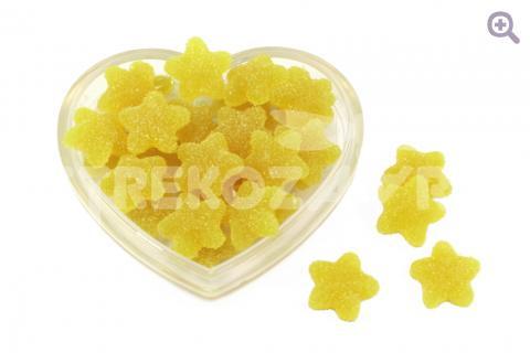 """Кабошон """"Мармеладные звездочки"""" (с сахаром) 17*16мм, цвет: лимонный"""