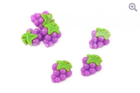 "Кабошон ""Виноград"" 17*21мм, цвет: фиолетовый"