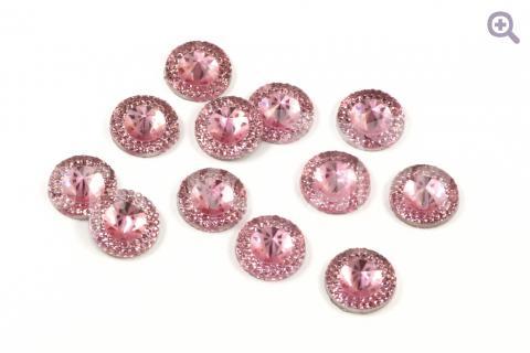 """Стразы """"Созвездие"""", 14мм, цвет: розовый"""