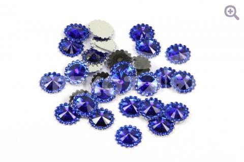 """Стразы """"Морские камушки"""", 12мм, 10шт, цвет: синий"""