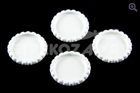 Крышка декоративная, внешний d-34мм, внутренний d-25мм, цвет: белый