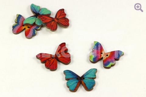 Набор пуговиц Бабочка 21*28мм, цвет: радужный, 3шт