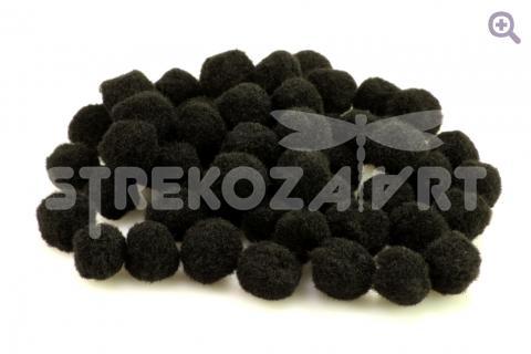 Помпоны 1см, упак. 20 шт, цвет: чёрный (Сп)