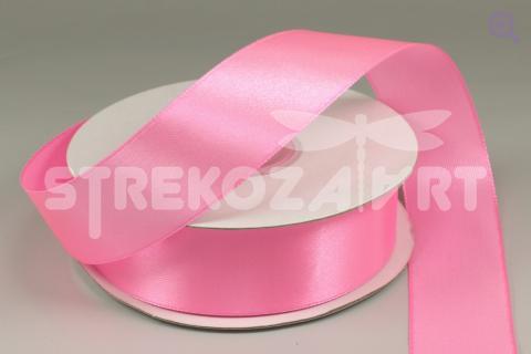 Лента атласная 6мм, цвет: темно-розовый