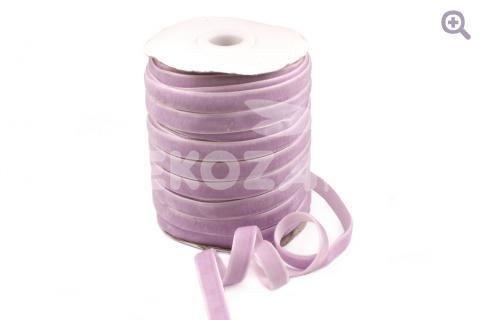 Лента бархатная 1см, цвет: светло-лиловый