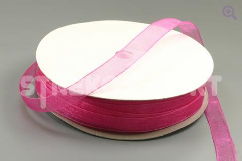 Лента органза однотонная 25мм, цвет: малиновый