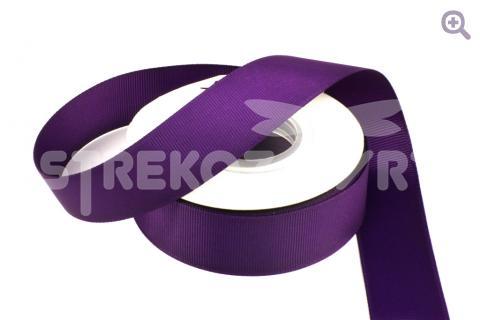 Лента репсовая однотонная 25мм, цвет: чернильный