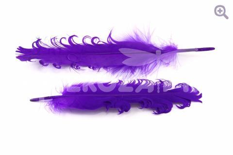 """Перо гусиное """"Кудри"""" 12-18см, цвет: фиолетовый"""