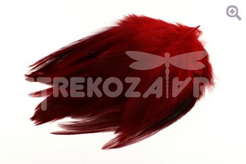 Перья петуха 10-15см, цвет: красный, 10шт
