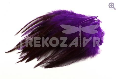 Перья петуха 10-15см, цвет: фиолетовый