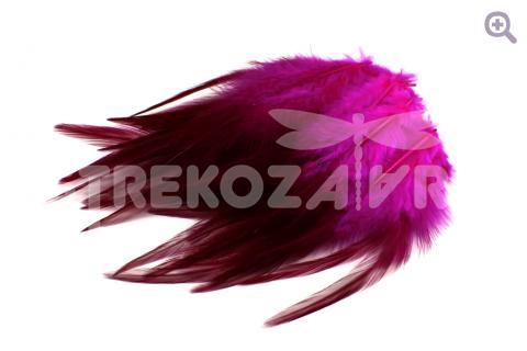 Перья петуха 10-15см, цвет: фуксия, 10шт