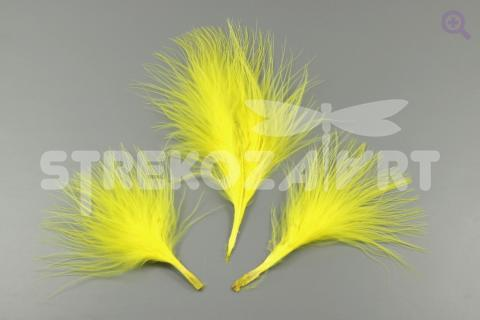 Перо индейки 5-9см, цвет: жёлтый, 5шт