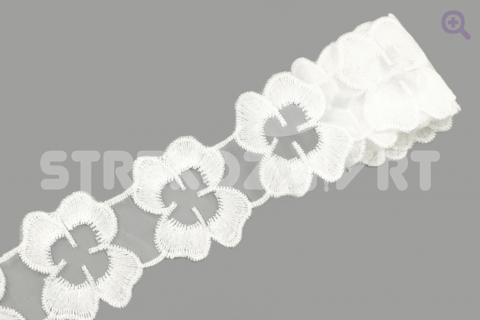 """Кружево """"Флора"""" 50мм, цвет: белый"""