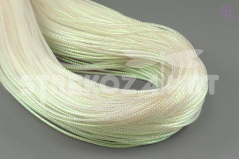 Шнур декоративный (круглый), 1мм, цвет: белый