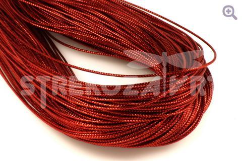 Шнур декоративный (круглый), 1мм, цвет: красный
