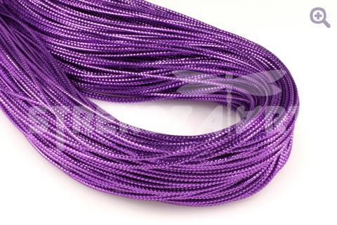 Шнур декоративный (круглый), 1мм, цвет: фиолетовый