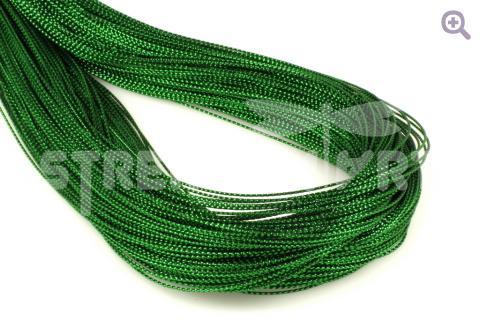 Шнур декоративный (круглый), 1мм, цвет: зелёный
