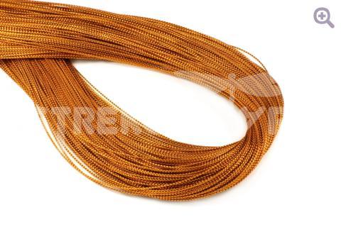 Шнур декоративный (круглый), 1мм, цвет: оранжевый
