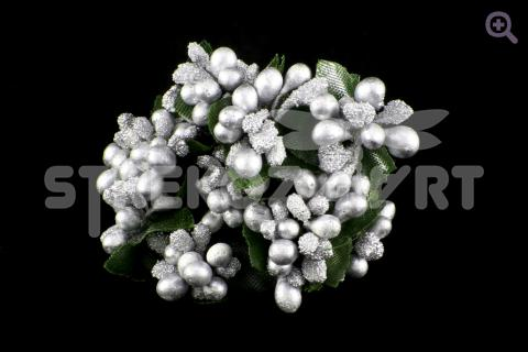 Букетик декоративный, цвет: серебро