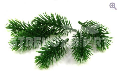 Еловая веточка 4,5см, цвет: темно-зеленый
