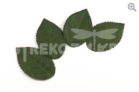 Лист розы 35*60мм, ткань, цвет: зеленый