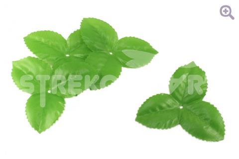 Чашелистик большой 7,5*7,5см, ткань, цвет: зеленый