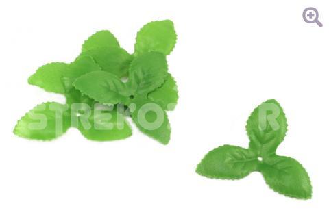 Чашелистик трилистник 7см*7см*7см, ткань, цвет: зеленый
