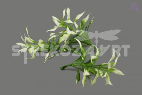 Весенняя зелень (пластик) 7,5см, цвет: темно-зеленый/белый