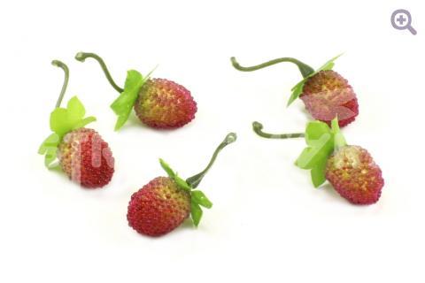 Земляника сахарная 25*20мм, цвет: красный/зеленый