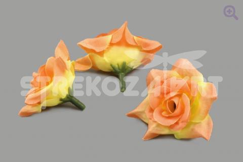 Роза 4,5см ткань, цвет: осенняя фантазия