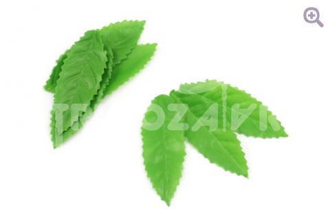 Лист 60*23мм, ткань, цвет: зеленый, 10шт