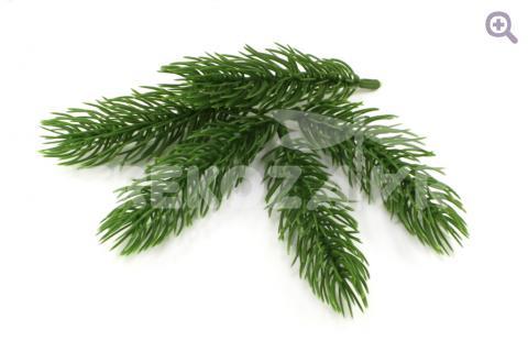 Еловая веточка 9см, цвет: зеленый