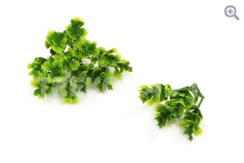 Веточка декоративная мини, (пластик) 3,5см, цвет: темно-зеленый/зеленый