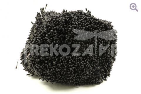 Тычинки матовые 2мм, цвет: черный, 10шт