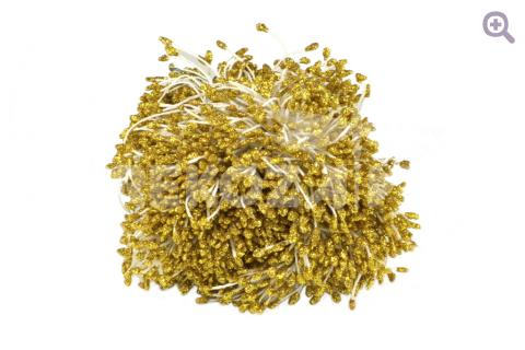 Тычинки 2мм с блеском, цвет: золото 10шт