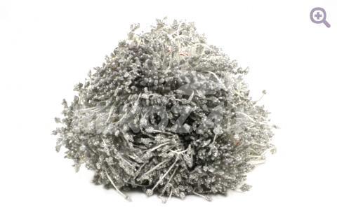 Тычинки 2мм с блеском, цвет: серебро, 10шт