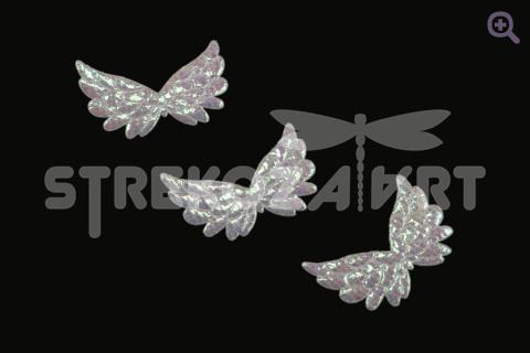 """Патч двухсторонний """"Крылья ангела"""" 35*23*1мм, цвет: белый"""