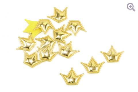 """Набор патчей """"Корона принцессы"""" 20*15мм, 10шт, цвет: золотой"""