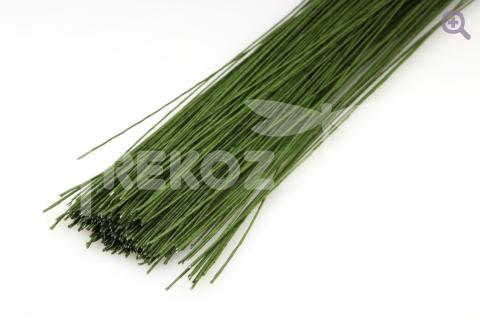 Проволока флористическая, 0,7мм, цвет: темно-зеленый
