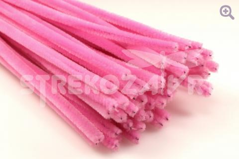 Проволока синельная 30см, цвет: розовый