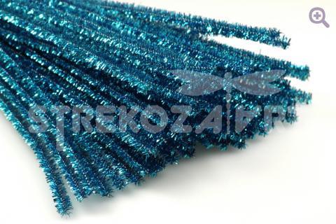 Проволока синельная металлизированная 30см, цвет: бирюзовый