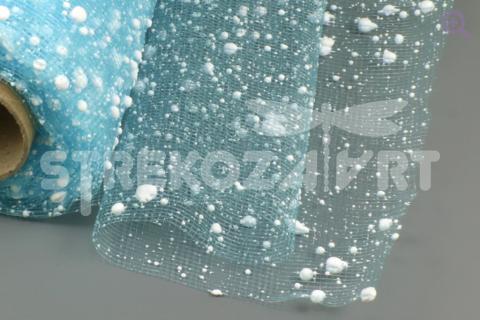 Сетка снег 52см (50см), цвет: бирюза 11