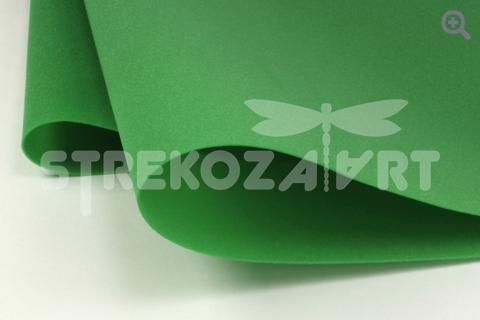 Фоамиран зефирный (Китай) 49*49см, толщина 1мм, цвет: зеленый