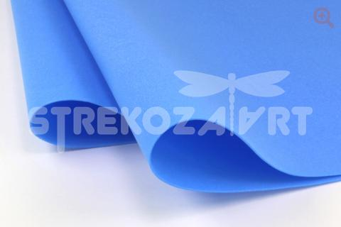 Фоамиран зефирный (Китай) 48*48см толщина 1мм, цвет: небесно-голубой