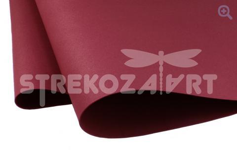 Фоамиран зефирный (Китай) 49*49см, толщина 1мм, цвет: вишневый