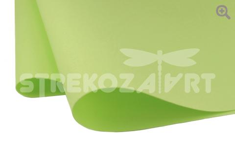 Фоамиран зефирный (Китай) 49*49см, толщина 1мм, цвет: яблочный