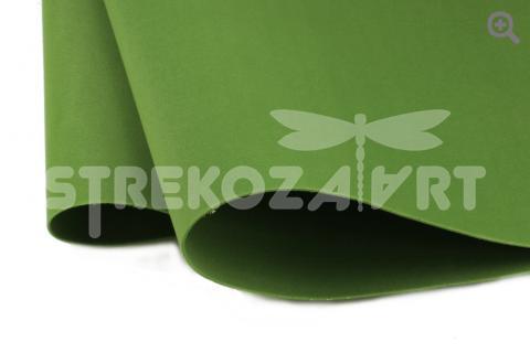 Фоамиран зефирный (Китай) 49*49см, толщина 1мм, цвет: зеленый лист