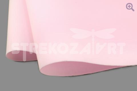 Фоамиран зефирный (Китай) 49*49см, толщина 1мм, цвет: нежно-розовый