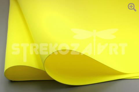 Фоамиран (Иран) 60*70см, цвет: желтый